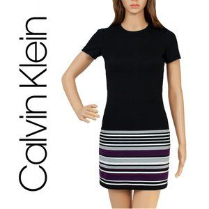 Calvin Klein Short Black Sheath Petite Dress 0P
